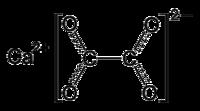 Estructura del oxalato de calcio